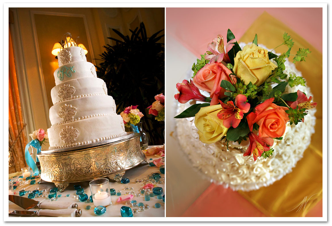 Photos of Wedding Cakes at Receptions